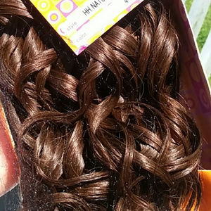 Outre Human Hair Bundle 12' Wavy Curly Brown
